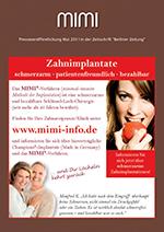 Anzeige Zahnimplantate MIMI